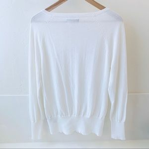 Kenneth Cole Sweaters - Kenneth Cole NY white lightweight sweater L